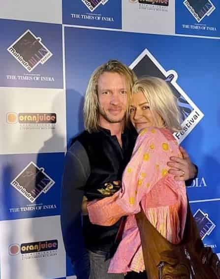 Kenny Wayne Shepherd with his wife, Hannah Gibson