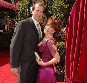 Matt Moline with his former wife, Kathy Griffin attending the award show.