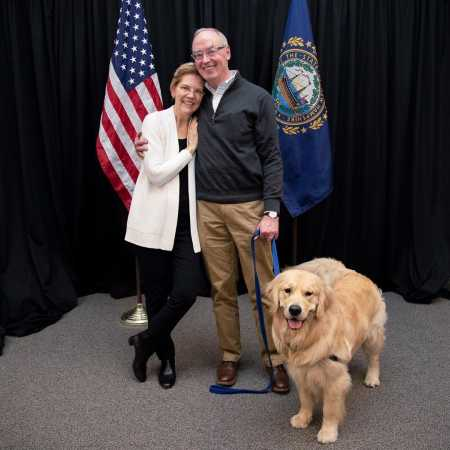 Alexander Warren's mom, Elizabeth Warren with her second husband, Bruce H. Mann and their pet dog, Bailey. Who is Alexander's wife?