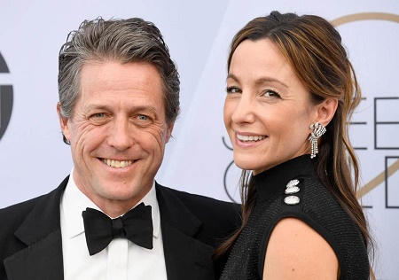 Hugh Grant marries his wife, Anna Elisabet Ebersteinon May 25, 2018