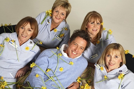 Hugh Grant is founder of Marie Curie Cancer Care