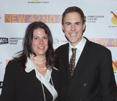 Ian Lithgow with his wife, Rachel Lithgow during award show
