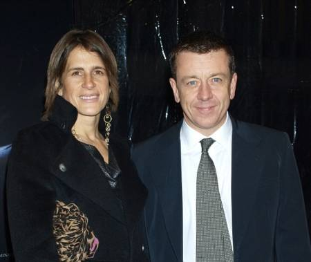 Peter Morgan with his former wife in a event