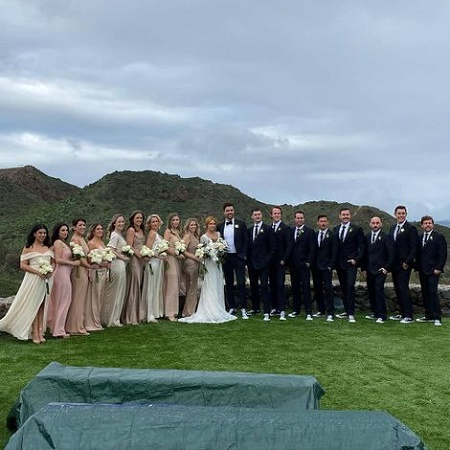 Brittany Snow and Tyler Stanaland had Outdoor Wedding Ceremony among their 100 guests
