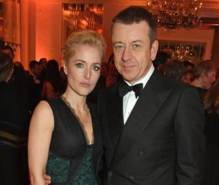 Actress, Gillian Anderson with her partner