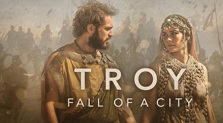 Chloe Pirrie appeared in the BBC/Netflix miniseries Troy: Fall of a City in 2018