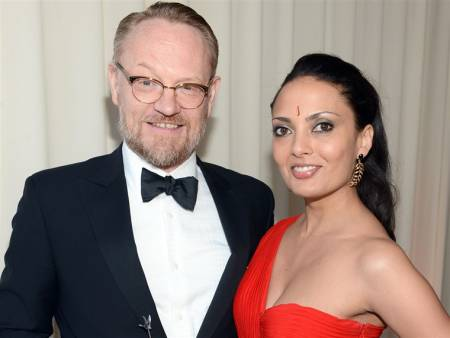 British Actor, Jared Harris with his wife