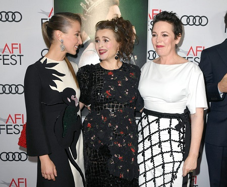 On November 16, 2019 in Hollywood, California, Erin Doherty participates with Helena Bonham Carter and Olivia Colman on ' The Crown ' Premiere at AFI FEST 2019