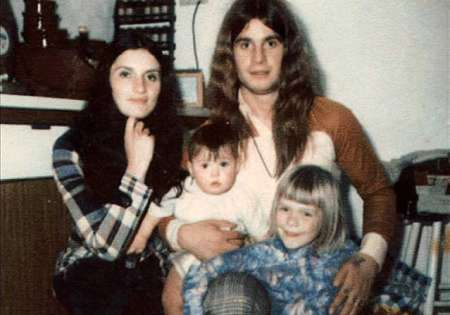 Ozzy Osbourne and his ex-wife, Thelma Riley and their two children. Want to know more about Ozzy's current married life?