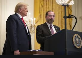 Alex Azar With Persident Donald Trump At The Wite House