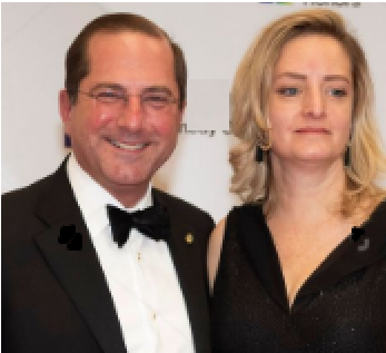 Jeniffer Azar Giving A Pose With Her Husand Alex Azar. Husband And Wife attending an event