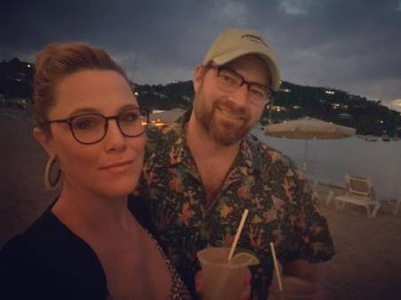 S.E Cupp with her husband
