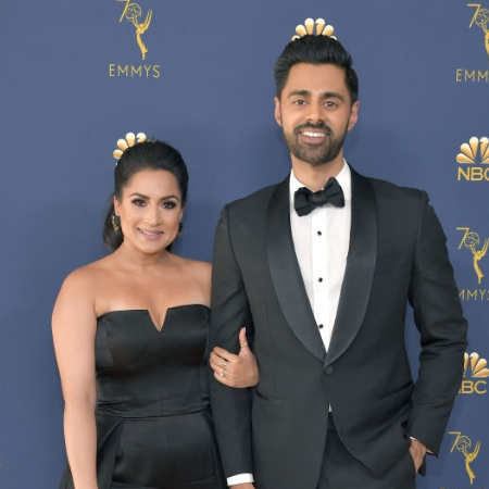 Image: Patel and Minhaj attending the Emmys