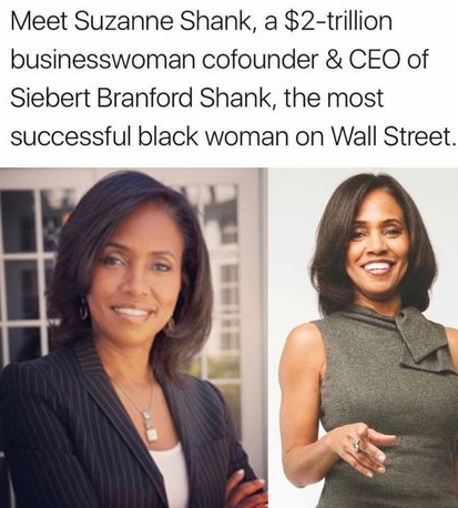 Suzanne Considered As One Of The Wealthies Afro American Women By Wall Street