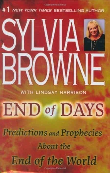 The cover of the book End of Days by Sylvia Browne