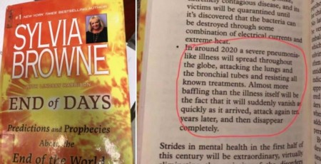 Did Psychic Sylvia Browne's book End of Days predicted Corona Virus?