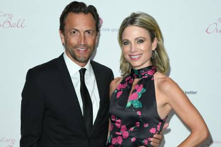 Amy Robach with her husband, Andrew
