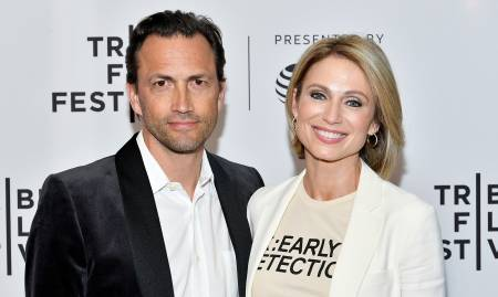 Andrew Shue with Amy Robach
