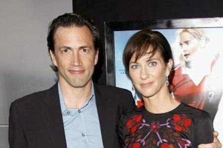 Andrew Shue with his former wife