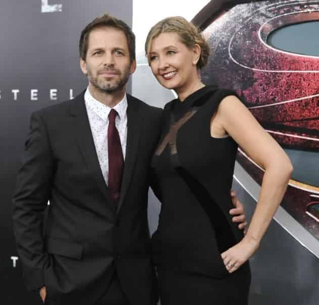 Zack Snyder with his spouse, Deborah Johnson