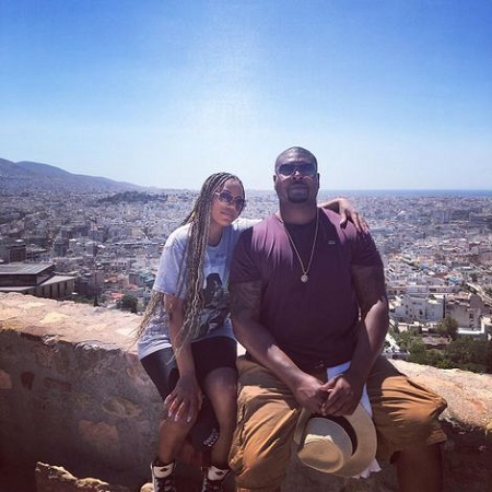 Peanut Nasheed with her husband, Tariq Nasheed at a Acropolis - Ακρόπολη on August 8, 2019