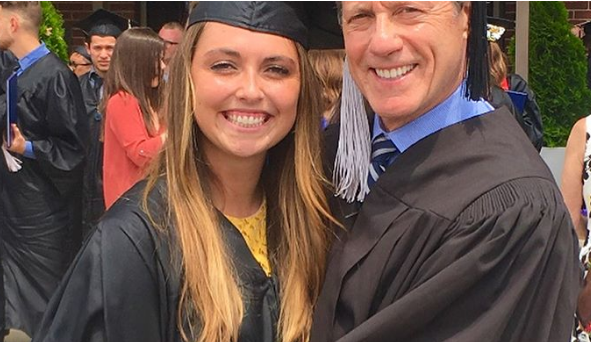 Corey Mcpherrin with his daughter Margaret at her graduation