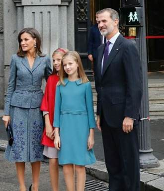 Leonor Princess of Spain with her family