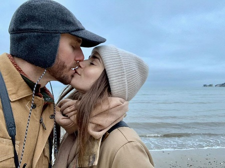 Lily Colins posted a kisiing picture with her boyfriend, Charlie McDowells in new year, 2020