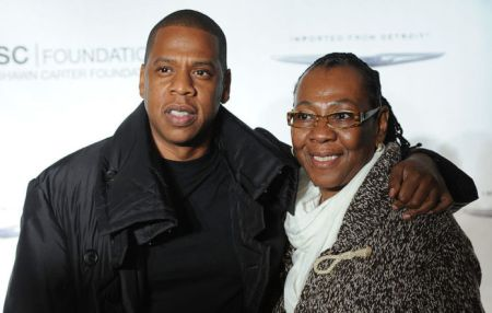 Jay Z with his mother