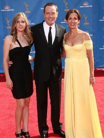 Bryan Cranston with his wife and daughter