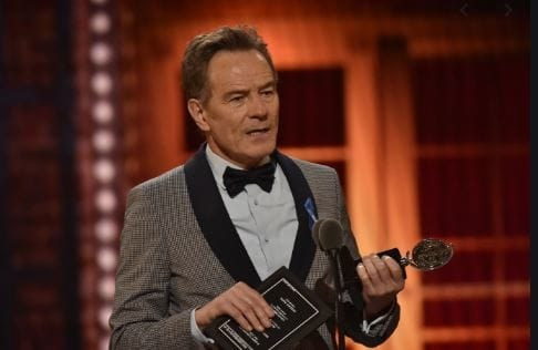 Bryan Cranston with his award