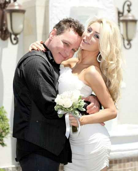 Courtney Stodden and  Doug Hutchinson during their wedding ceremony