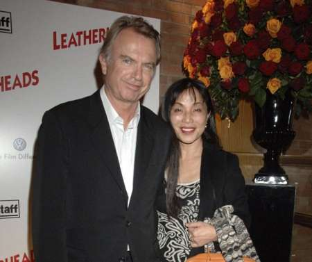 Sam Neill with his former wife
