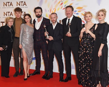 The whole cast of Peaky Blinders at an award show