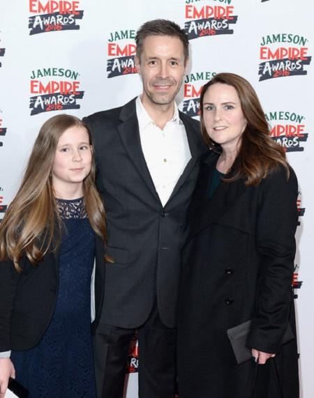 Shelley Considine and Paddy Considine with their daughter attend the Jameson Empire Awards 2016 at The Grosvenor House Hotel in London, England on on March 20, 2016