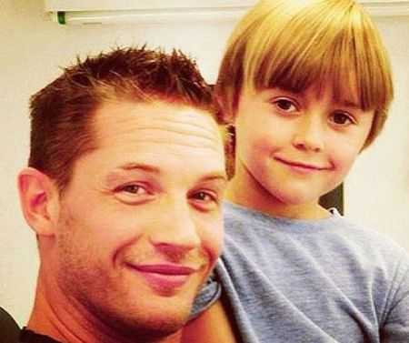 Tom Hardy with his look-alike son, Louis Thomas Hardy