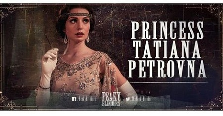 Gaite Jansen as Grand Duchess Tatiana Petrovna , a Russian princess in Peaky Blinders