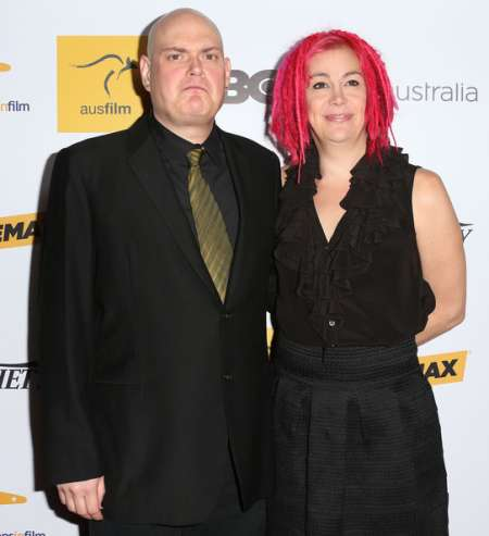 Lana Wachowski with her brother