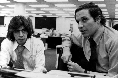 The two most famous newspaper, Bob Woodward and Carl Bernstein