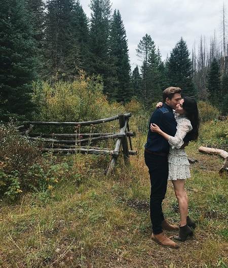 Grace Fulton and Branden Currey at a Gateway, Montana