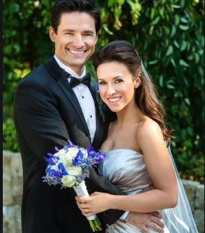 Julia Mimi Bella's Parents David Nehdar And Lacey Chabert At Their Wedding Ceremony