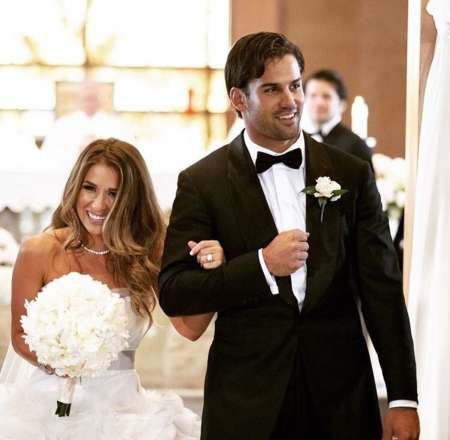 Jessie James Decker along with her husband in wedding day