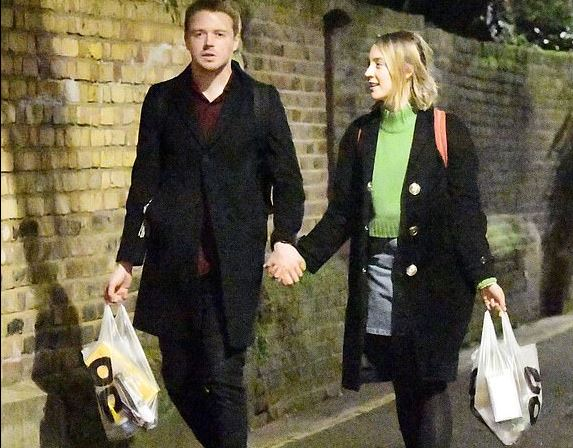 Saoirse Ronan And Her Boyfriend Jake LowdeN, Holding Hand And Walking In The Street Of London