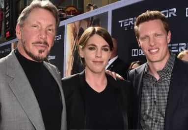 Barbara's Ex-Husband Larry Ellison And Thei Children David And Megan