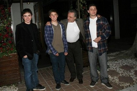 Frankie with his three sons