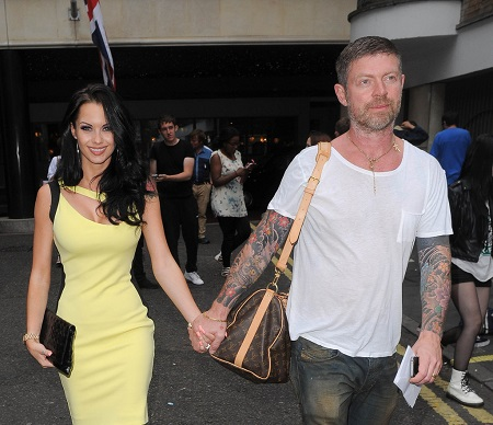 The Real Hustle star walking with her husband Lee Stafford