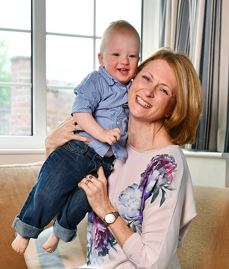 Rachel with her youngest son Henry