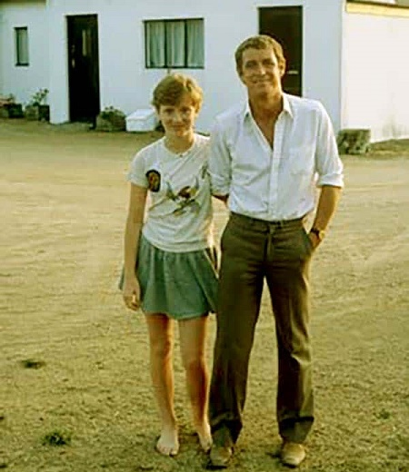 John Nettles with his daughter, Emma