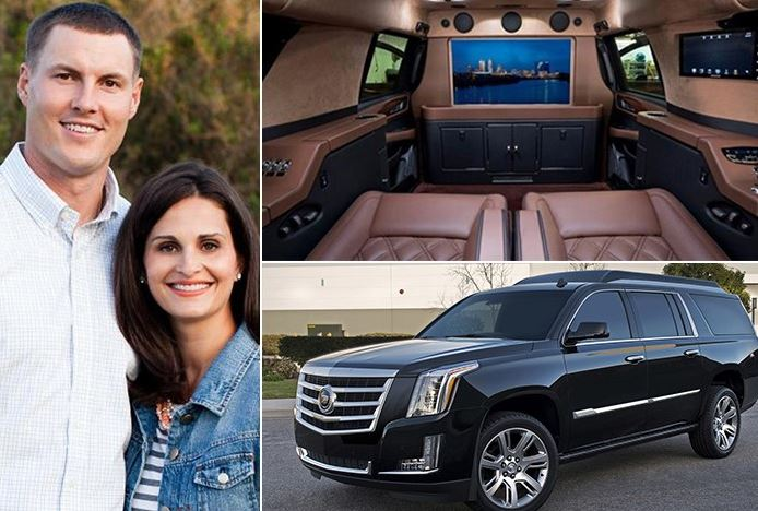 Tiffany Rivers And Her Husband Philip Rivers And Their Expensive SUV