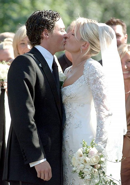 Davinia Taylor and David Gardner at their Wedding
